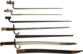 Edged Weapons:Bayonets, Group of 5 European Bayonets... (Total: 5 Items)