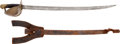 Edged Weapons:Swords, Civil War US M1860 Naval Cutlass With Scabbard And Frog....
