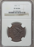 Large Cents: , 1816 1C XF40 NGC. NGC Census: (4/190). PCGS Population (17/189).Mintage: 2,820,982. Numismedia Wsl. Price for problem free...