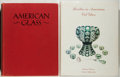 Books:Art & Architecture, [American Glass]. Lot of Two Reference Books About American Glass. Quartos. One in jacket (a first edition), one without jac... (Total: 2 Items)
