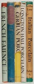 Books:Art & Architecture, [Porcelain]. Lot of five books on various styles of porcelain. All but one (French Faience) first editions. Four out of ... (Total: 5 Items)