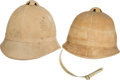 Military & Patriotic:Indian Wars, Two U.S. Army model 1881 Summer Helmets.... (Total: 2 Items)