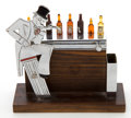 Decorative Arts, French:Other , A FRENCH EBONY AND ENAMELED AND CHROMED METAL BARTENDER-FORMCOCKTAIL PICK HOLDER . Maker unidentified, French, circa 1930. ...