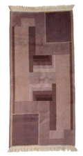 Paintings, A BELGIAN ART DECO WOOL RUG . Maker unknown, Belgian, circa 1930. 59-1/2 x 27 inches (151.1 x 68.6 cm). ...