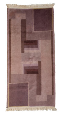 A BELGIAN ART DECO WOOL RUG Maker unknown, Belgian, circa 1930 59-1/2 x 27 inches (151.1 x 68.6 cm)