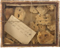 Military & Patriotic:Civil War, Box of Civil War Hardtack Issued to Frederick Gilhousen of the Illinois 115th Infantry....