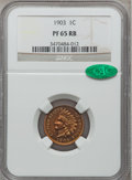 Proof Indian Cents: , 1903 1C PR65 Red and Brown NGC. CAC. NGC Census: (84/34). PCGS Population (41/5). Mintage: 1,790. Numismedia Wsl. Price for...