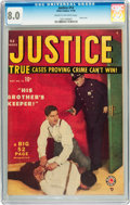 Golden Age (1938-1955):Crime, Justice Comics #14 (Atlas, 1949) CGC VF 8.0 Cream to off-white pages....