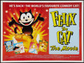 "Movie Posters:Animation, Felix the Cat: The Movie (New World, 1989). British Quad (30"" X40""). Animation.. ..."
