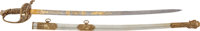 High Grade Brass Gripped Civil War M1850 Staff & Field Officer's Sword With Presentation