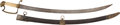 Edged Weapons:Swords, American Eaglehead Officer's Saber C. 1830...