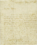 "Autographs:Celebrities, Martha Washington Autograph Letter Signed ""M. Washington"",four pages, 7.25"" x 9.25"", Mount Vernon, February 25, 1788. W..."
