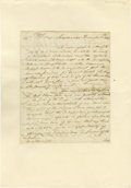 "Autographs:Military Figures, A British Officer Writes to George Washington. Four pages, 10.5"" x15"", Cambridge, December 8, 1778. This is a copy of a let..."