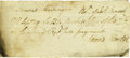 """Autographs:U.S. Presidents, 1797 Receipt for Rye Paid By George Washington. One page, 5.5"""" x 2.5"""", np, September 9, 1797. Original manuscript receipt fo..."""