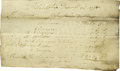 "Autographs:Statesmen, 1791 Receipt for Exotic Winter Oranges and Limes Shipped to MountVernon. One page, 7.5"" x 4"", Philadelphia, December 22, 17..."