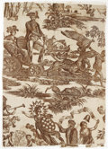 """Political:Textile Display (pre-1896), 1790 """"The Apotheosis of Franklin"""" Memorial Textile. This textilemeasures 32"""" x 24"""" and was printed as a memorial to Frankl..."""