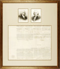 "Autographs:U.S. Presidents, Thomas Jefferson and James Madison Four Language Ship's Papers Signed ""Th: Jefferson"" as president and ""James Madison..."