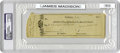 """Autographs:U.S. Presidents, Check Signed by James Madison as President, 2.5"""" x 7.75"""", $60 drawn on the Bank of Columbia and payable to """"A.B."""", Wash..."""