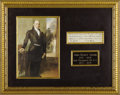 "Autographs:U.S. Presidents, John Quincy Adams Partial Document Signed as President, one page,5.25"" x 1.5"". This endorsement clipped from a larger docum..."