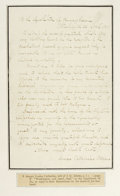 "Autographs:Celebrities, First Lady Louisa Adams Autograph Letter Signed ""Louisa Catherine Adams"". One page, 5"" x 7.5"", Washington D.C., April 22..."