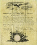 "Autographs:U.S. Presidents, Beautiful Andrew Jackson Marine Corps Commission Signed. One Page, 15"" x 18"", Washington, March 2, 1835. A pristine commissi..."