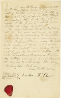 "Autographs:Celebrities, First Lady Jane Pierce Autograph Last Will and Testament Signed""Jane M. Pierce"". Full page, 4.25"" x 7"", Concord, New Ha..."
