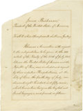 """Autographs:U.S. Presidents, James Buchanan Treaty Signed as President. 12 pages, 10"""" x 13.5"""",Lima, July 4th, 1857. A treaty of the United States permit..."""