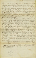 "Autographs:Statesmen, Alexander Hamilton Letter Signed ""A. Hamilton"", one page, 8"" x 12"", ""War Department"", September 12, 1794 to Samuel H..."