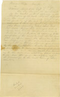 Autographs:U.S. Presidents, Abraham Lincoln Pencilled Autograph Document Signed in full within the text. No place, no date (Sangamon Co., Ill., ca. Octo...