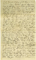 Autographs:U.S. Presidents, Abraham Lincoln Unsigned Autograph Document. Sangamon Co. (Ill.), no date (docketed March 1840), one and one-quarter pages, ...
