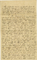 Autographs:U.S. Presidents, Abraham Lincoln Unsigned Autograph Document. Sangamon Co. (Ill.), 18 March 1844, one and one-half pages, folio. A statement ...