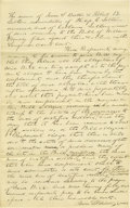 Autographs:U.S. Presidents, Abraham Lincoln Unsigned Autograph Document. Sangamon Co. (Ill.),no date (docketed 27 November 1844), one page, folio. A re...