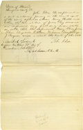 Autographs:U.S. Presidents, Abraham Lincoln Unsigned Autograph Document. Sangamon Co., Ill., nodate (docketed December 1844), about one-half page, foli...