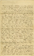 Autographs:U.S. Presidents, Abraham Lincoln Unsigned Autograph Document. Sangamon Co. (Ill.),16 March 1846, three pages, folio. In Mathew P. Crowder vs...