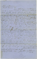 Autographs:U.S. Presidents, Abraham Lincoln Unsigned Autograph Document. Piatt Co., Ill., 12October 1852, one page, folio, on blue paper. An affidavit...
