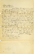 Autographs:U.S. Presidents, Abraham Lincoln Unsigned Autograph Document. Vermilion Co., Ill., 2 June 1854, about three-quarters page, folio. Wherein Cha...