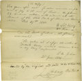"Autographs:U.S. Presidents, John Tyler Autograph Letter Signed ""John Tyler."" A letterwritten and signed by John Tyler, one page, 7.6"" x 9.9"", Glouc..."