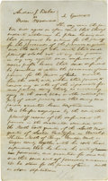 Autographs:U.S. Presidents, Abraham Lincoln Unsigned Autograph Document. No place (evidentlyEdgar Co., Ill.), no date, one page, folio. An order of the...