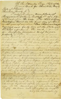 "Autographs:U.S. Presidents, Lincoln Law Partner Stephen T. Logan Autograph Document Signed""Logan & Lincoln p.q."" Christian Co., Ill., November1842..."