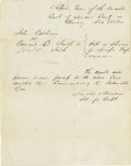 """Autographs:Statesmen, Lincoln's Partner, William Herndon, Autograph Document Signed,""""Lincoln & Herndon"""", one page with docketing, 7.75"""" x10""""..."""