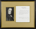 "Autographs:U.S. Presidents, William McKinley Authority To Affix the Seal Document Signed. Onepage, 8"" x 10"", partly printed Executive Mansion letterhea..."
