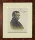 Autographs:U.S. Presidents, Theodore Roosevelt Inscribed Signed Photograph This monumentalsepia portrait carries the imprint of Underwood & Underwood,...