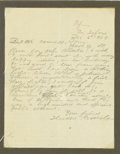 "Autographs:U.S. Presidents, Theodore Roosevelt Autograph Letter Signed. One page, 8.5"" x 10"",Africa, December 2, 1909. A terrific letter by the boxing ..."