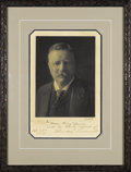 "Autographs:U.S. Presidents, Theodore Roosevelt Photograph Signed ""To Oscar King Davis with the hearty regards of Theodore Roosevelt Feb 27th 1909"". ..."