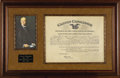 """Autographs:U.S. Presidents, Calvin Coolidge Document Signed. One page, 16.5"""" x 13"""", Washington,D.C., February 11, 1926. A partially printed certificate..."""
