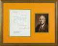 "Autographs:U.S. Presidents, Franklin D. Roosevelt Typed Letter Signed as President.One page, 8""x 10"", White House letterhead, Washington, August 12, 1..."