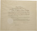 "Autographs:U.S. Presidents, Harry S. Truman Document Signed as President ""Harry Truman"". One page, 24"" x 19"", Washington D.C., June 27, 1946. A sign..."