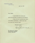 "Autographs:U.S. Presidents, Harry S. Truman Typed Letter Signed as President ""HarryTruman"". One page, 7"" x 9"", on White House letterhead,Washingto..."