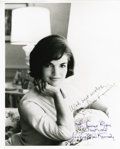 "Autographs:Celebrities, Jacqueline Kennedy Inscribed Signed Photograph, ""For James Roganbest wishes Jacqueline Kennedy."" A glossy 8"" x 10"" Whit..."
