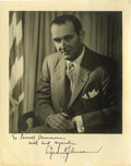 "Autographs:U.S. Presidents, Lyndon B. Johnson Inscribed Signed Photograph ""To ParnellHammons with best regards Lyndon B Johnson"". 8"" x 10"" withins..."